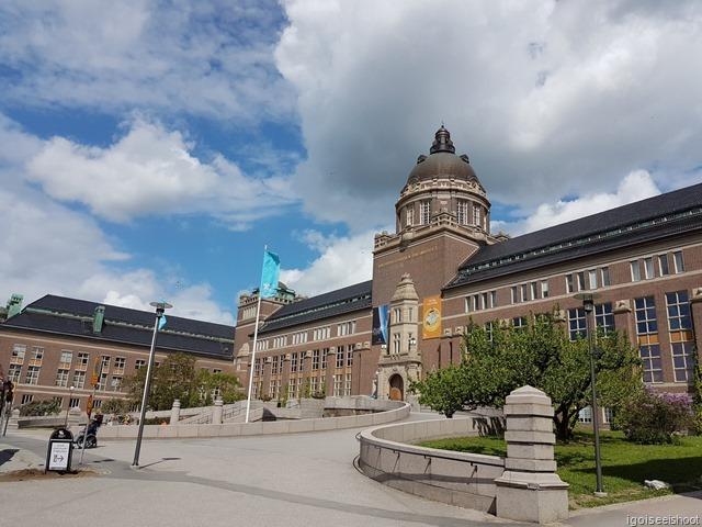Impressive building - Natural History Museum (Naturhistoriska riksmuseet) in Stockholm