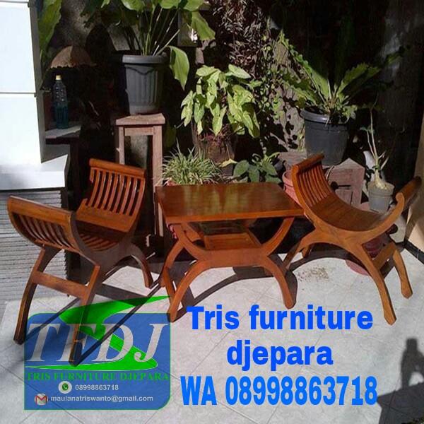 Model Kursi Teras Kayu Minimalis tris furniture djepara kursi teras yuyu rp 1 500 000