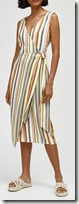 Warehouse Candy Striped Midi Dress