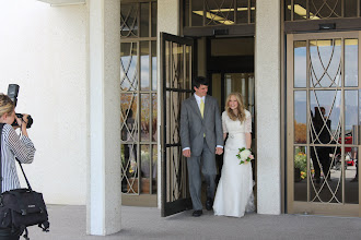 Photo: Kaitlin and Chad after the ceremony.