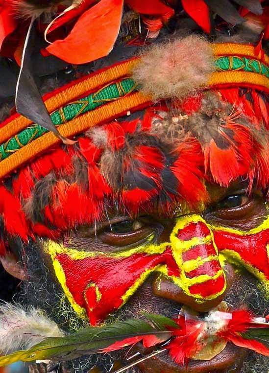 Раскраска папуасов