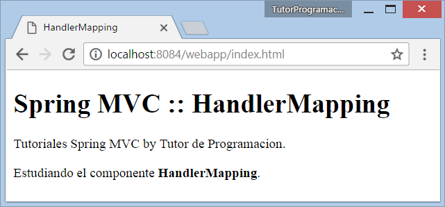 Spring MVC HandlerMapping (SimpleUrlHandlerMapping)