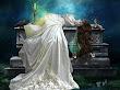 Raven On White Dress
