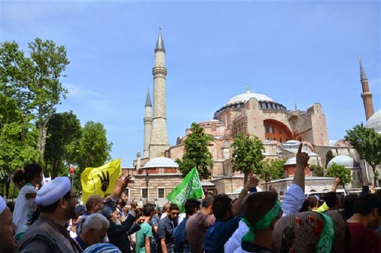Near East: Protestors demand Hagia Sophia be turned into mosque