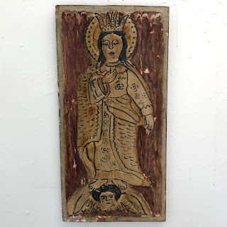 Carved Wood Primitive Iconography