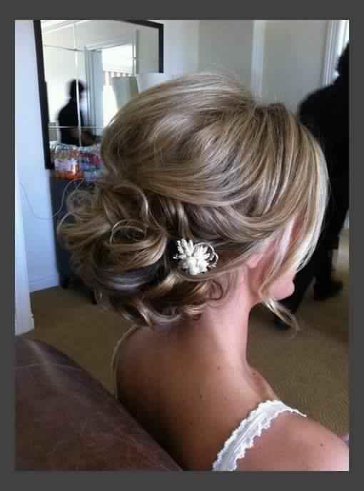 Beautiful Wedding Updo for Medium hair
