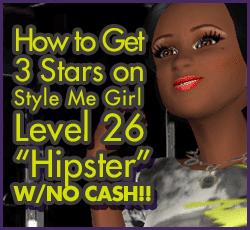 Style Me Girl Level 26 - Hipster - Jenny - Stunning! Three Stars