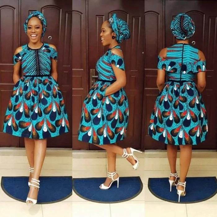 Asoebi Styles 2018 Ankara Dresses Styles 1
