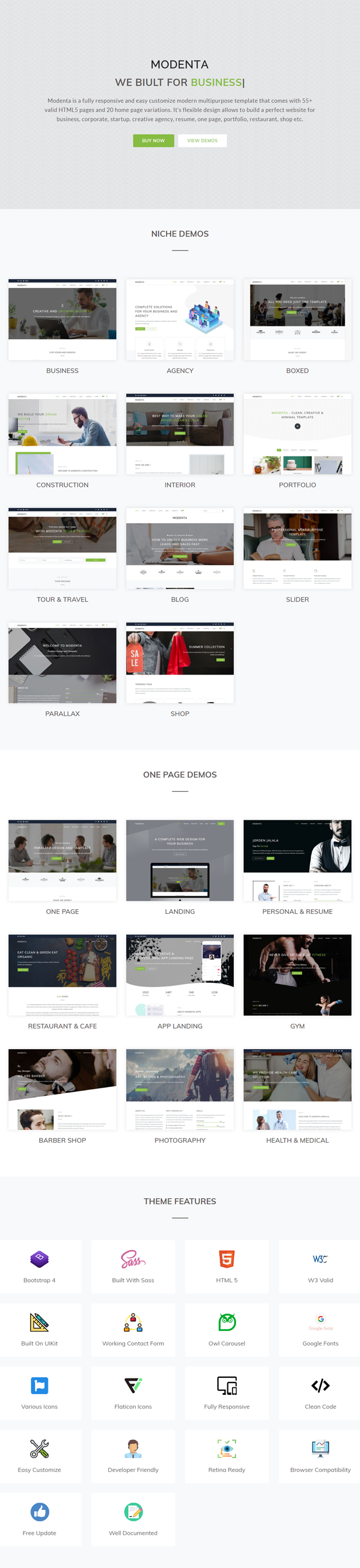 Modenta - A Responsive Multipurpose Template - 1
