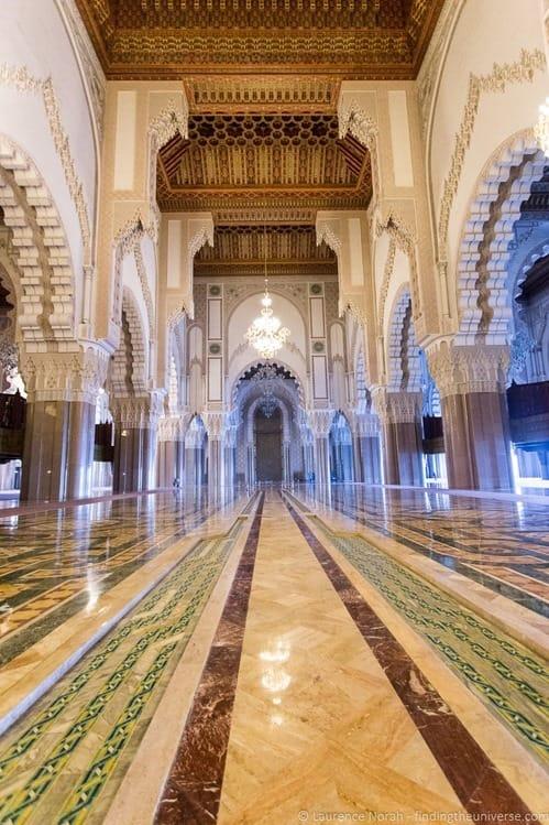 Interior  Hassan II Mosque Casablanca Morocco