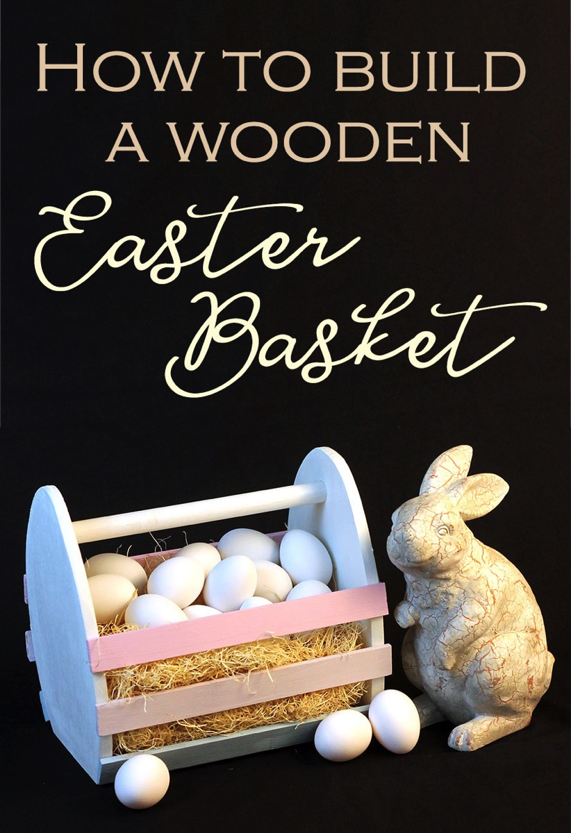 How to Build A Wooden Easter A beginner's #woodworking project for #spring! An oversized #EasterEgg shaped #Easter basket! A fun excuse to get into the woodshop and get a little sawdust in your hair! Goes together in no time and with simple tools. Get the free plans on her site!