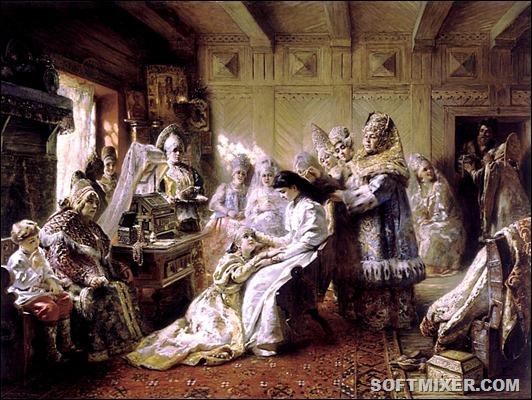 По мнению русского историка Н.М. Карамзина, древние славяне обычно покупали  себе жен и как такового свадебного обряда не знали. От невесты требовалось  лишь ... 01a2b870926