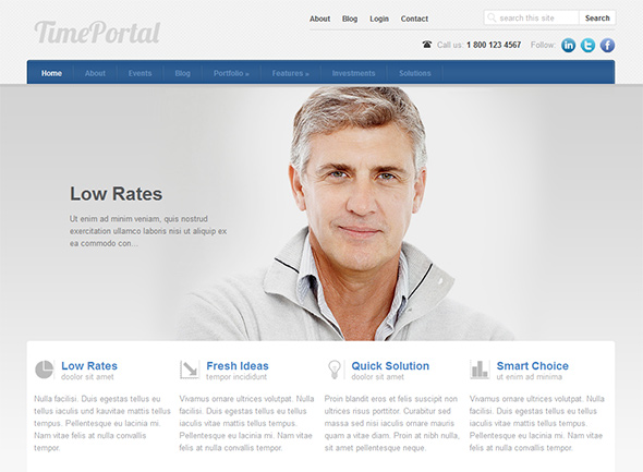 TimePortal WordPress theme for health clinics