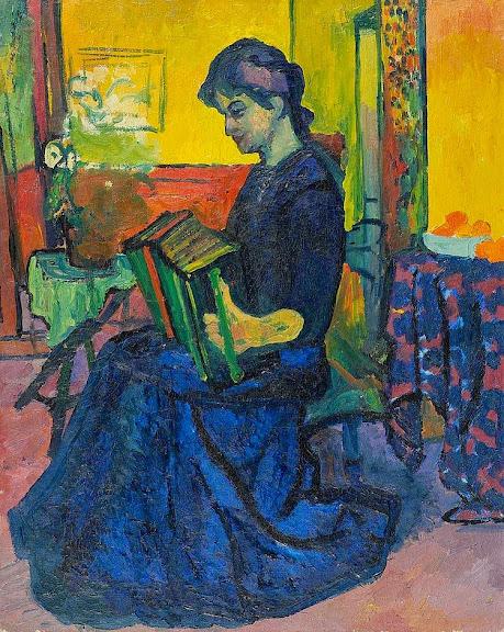 Giovanni Giacometti - La suonatrice. Circa 1909