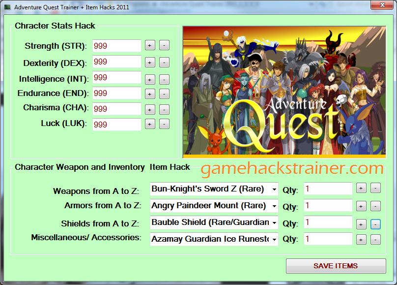 adventure quest stats