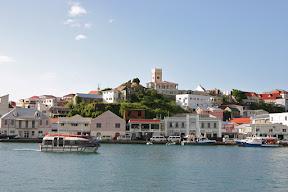 Queen Mary 2 tender in St. George's harbour, Grenada