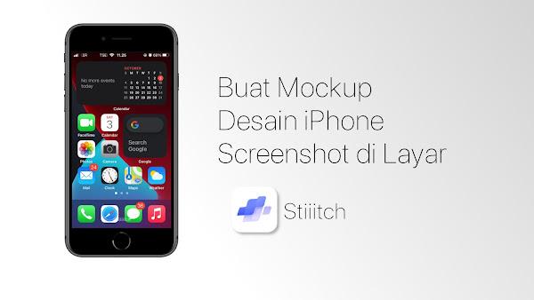 Cara Membuat Desain Mockup Screenshot HP di iPhone