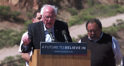 Agnostic Sanders uses Pope Francis' words to denounce Trump