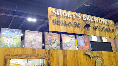 Other brewery booths of GABF 2015 - Short's Brewing Co with pretty fun labels for their beers