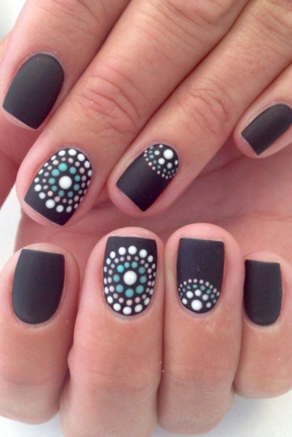 Cute Black Nail Ideas And Polish Designs 1