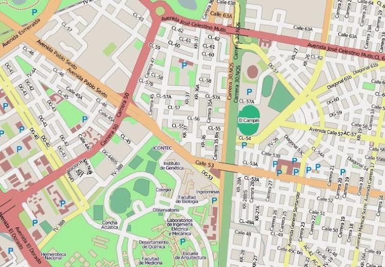 Bogotá en OpenStreetMap