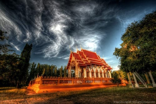 Temple Thailand sunset scaled
