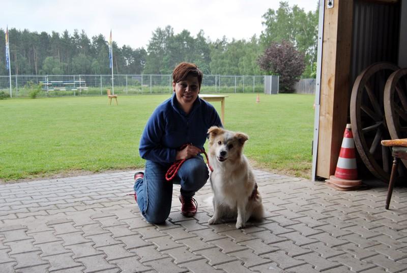 Simone mit Mila