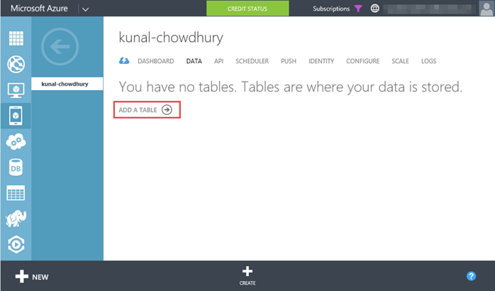 8. Windows Azure - Mobile Service - Data (www.kunal-chowdhury.com)