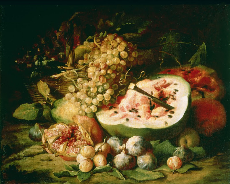 Frans Snyders - Still Life of Fruit on a Ledge