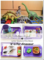 Letter D: Dinosaur Unit Activities and {Learn & Play Link Up}