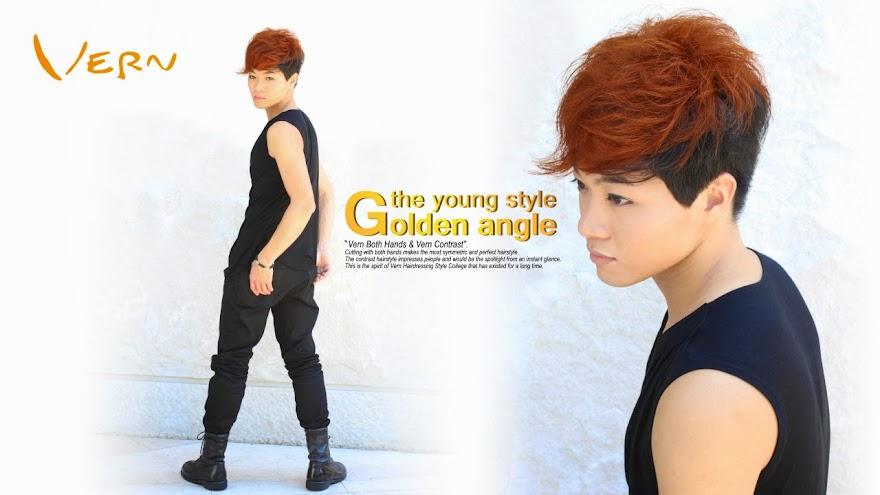 韓系暖男短捲髮型設計圖片