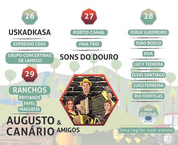 Programa musical - Feira Agrícola de Lamego – 26 a 29 de Maio de 2016