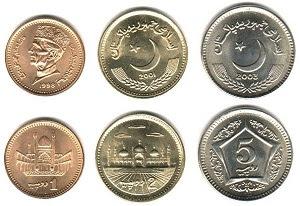 mata uang rupee Pakistan logam atau koin