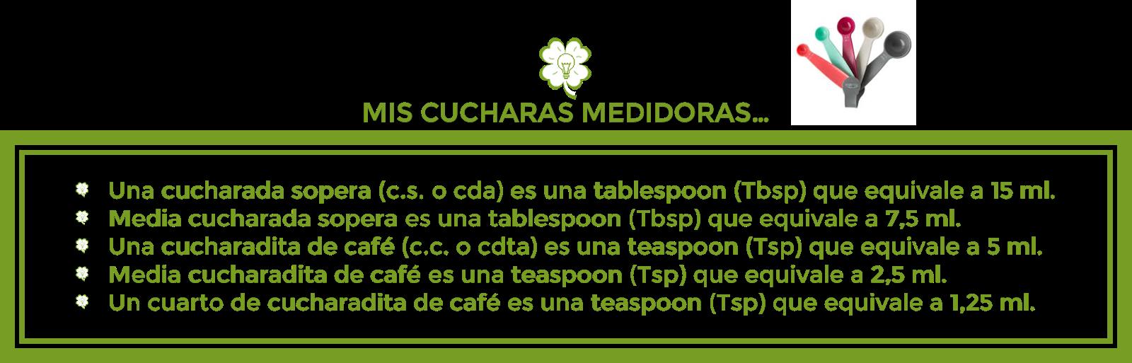 CUCHARAS MEDIDORAS