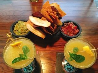 Valdez: chips, guacamole, salsa, mango margaritas
