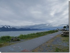 Seward Waterfront Park on cold evening