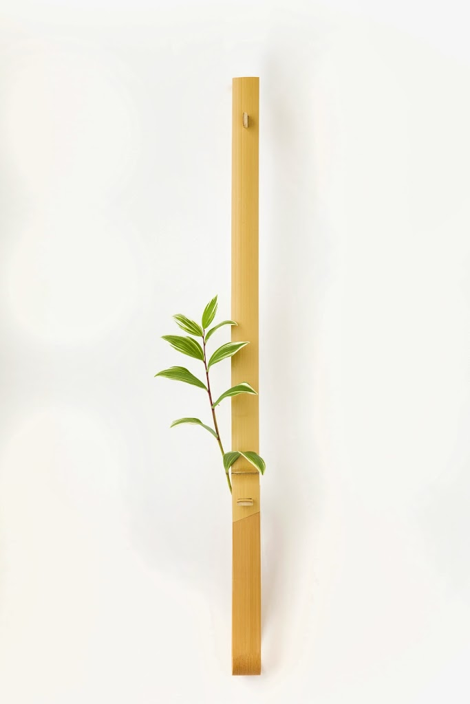 Bamboo Hanging Flower Vase Ichirin-zashi Long Naga-take