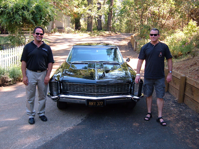 Tim on the right with his friend, beautiful 65 dual quad Riv!