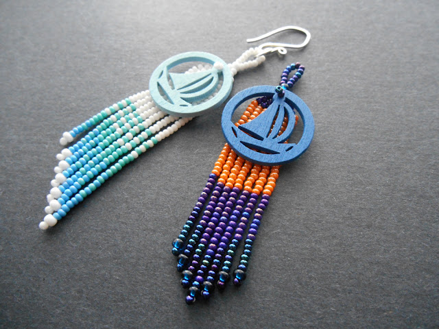 Brick Stitch Silhouette Earring Tutorial