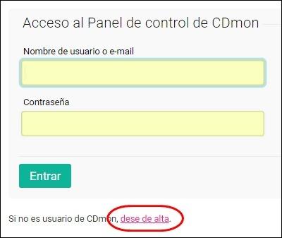 Abrir mi cuenta Cdmon - 3