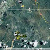 La piste de Coralie entre Cacao (au nord-ouest) et la RN2 : localisation des photos 2012