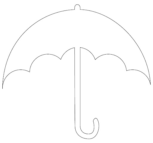 Paraguas en foami - Imagui