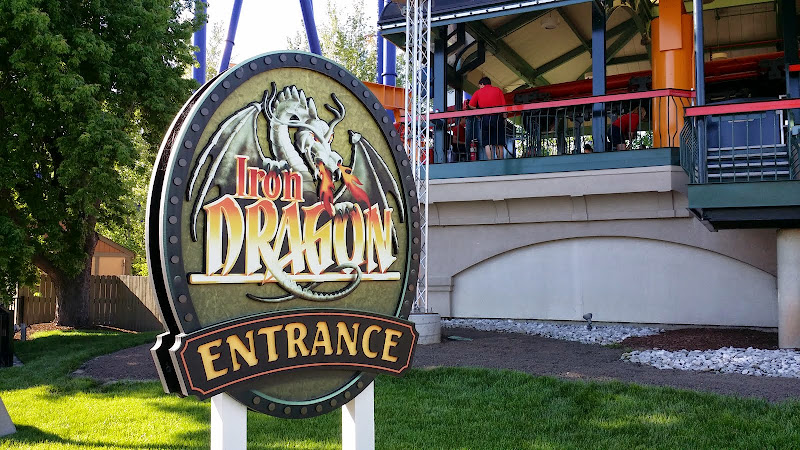 Iron Dragon roller coaster. From The Complete Guide to Visiting Cedar Point