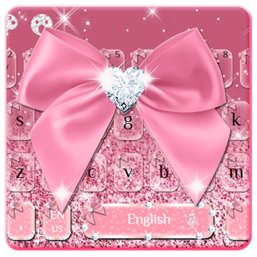Rose Gold Diamond Bow Keyboard