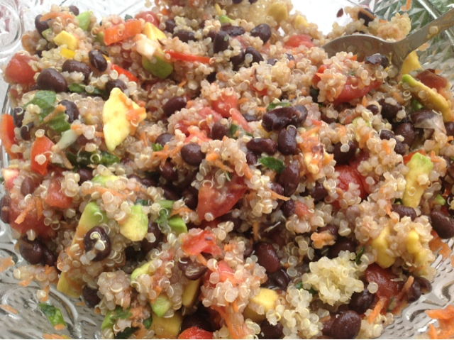 quinoa black bean and avocado salad