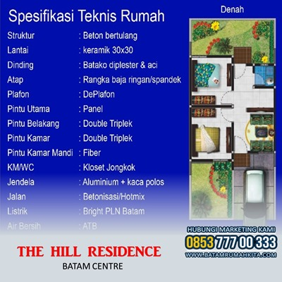 Denah Bangunan Type 36 The Residence Batam Centre