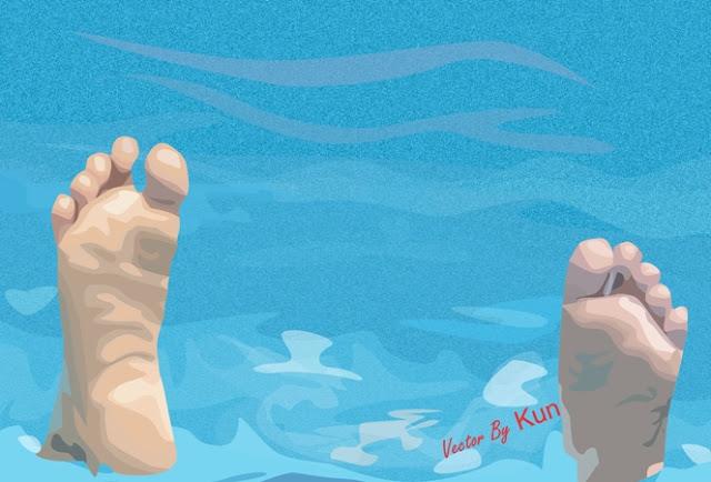 dua siswi SD di Ngawi tewas tenggelam di sungai