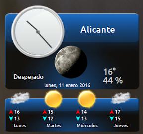 My Weather Indicator para Ubuntu - Widget 4