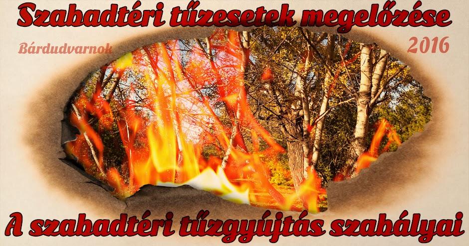 Szabadtéri tűzesetek megelőzése 2016