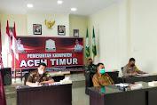 Pemkab Aceh Timur Ikuti Rakor Penanganan Covid-19 Secara Virtual dengan Pemerintah Aceh